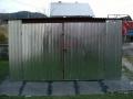 Magazie metalică de 4m x 4m,  cu acoperiş cu panta în spate