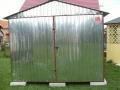 Magazie metalică de 3m x 3m, cu acoperiş cu pantă dublă