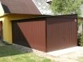 Garaj metalic colorat pentru o maşină, de 3m x5m, cu acoperiş cu pantă laterală